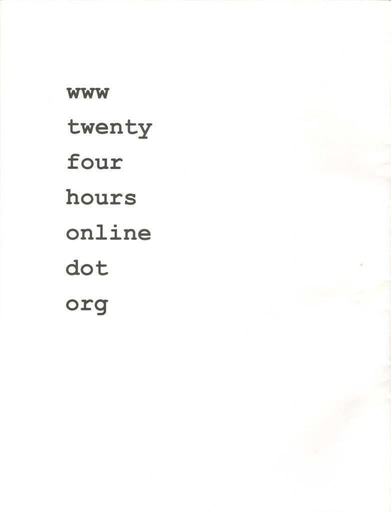 ZINES_Twenty Four Hours